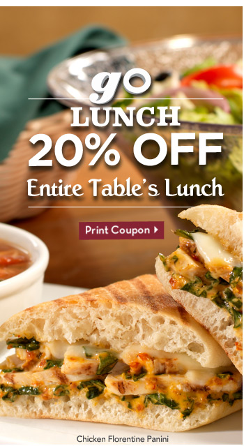 Olive Garden Coupon 20 Off Entire Table S Lunch