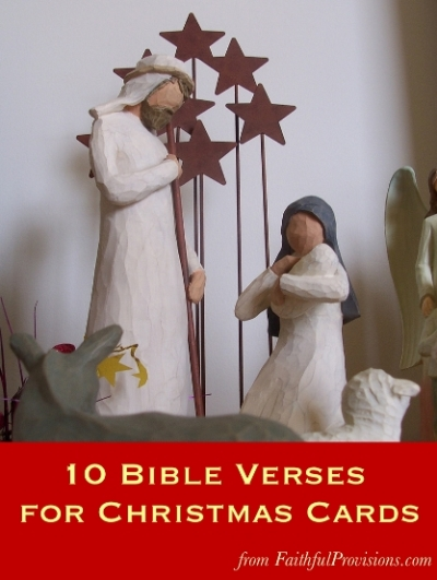 10 bible verses for christmas cards