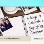 6 Ways to Celebrate a Debt-Free Christmas: My Guest Post on Dave Ramsey's Blog
