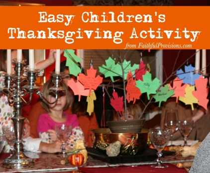 Easy Children's Thanksgiving Activity