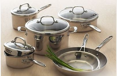 Food Network 10 Piece Stainless Steel Cookware Set