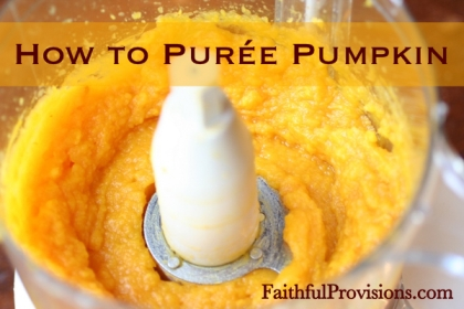 How to Puree Pumpkin