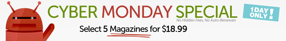 Cyber Monday Magazine Deals