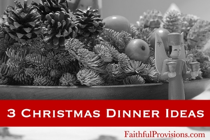 3 Christmas Dinner Ideas