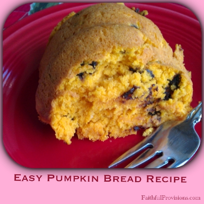 Easy Pumpkin Bread Recipe | Faithful Provisions