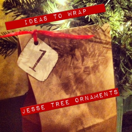 Ideas to Wrap Jesse Tree Ornaments