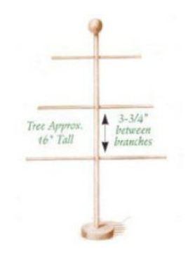 Wooden Advent Calendar Tree