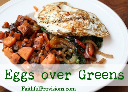 Eggs over Greens