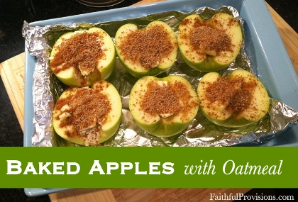 Baked Apples with Oatmeal
