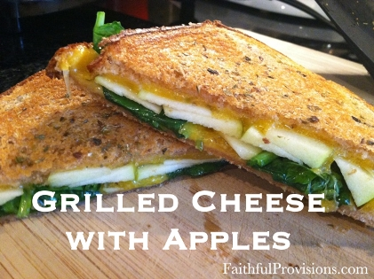 Grilled Cheese with Apples