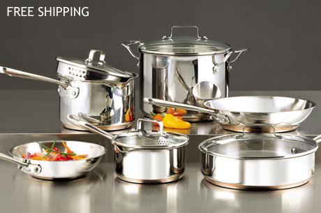 Emerilware 10pc Stainless Steel Cookware Set Only 133
