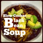 Easy Slow Cooker Black Bean Soup