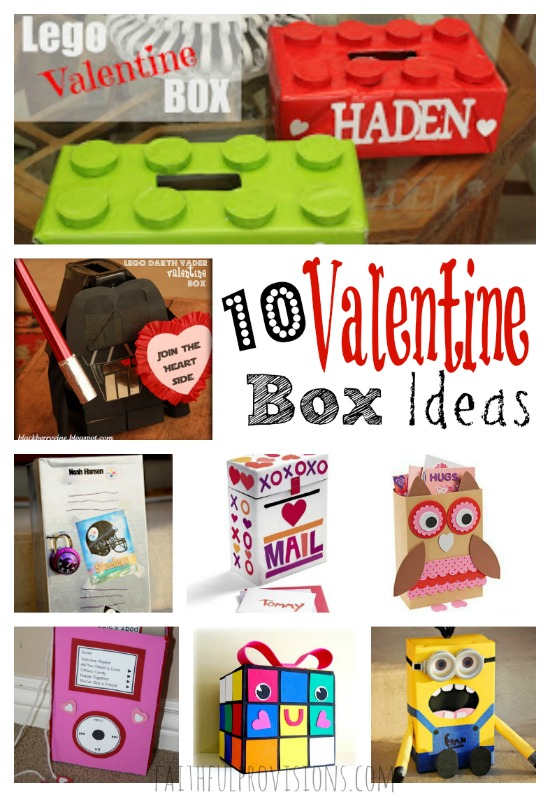 10 Valentine Box Ideas from FaithfulProvisions.com