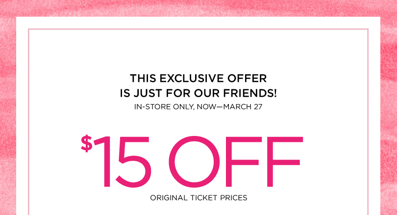 The limited coupons 15 off 30