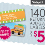 Vistaprint: 140 Custom Labels Only $5 Shipped (This Week Only!)
