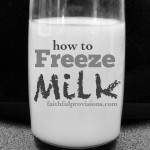 How to Freeze Milk