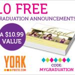 York Photo: 10 Free Graduation Announcements