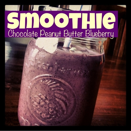 Chocolate Peanut Butter Blueberry Smoothie
