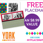 Free Personalized Placemat From York Photo