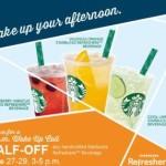 Starbucks: Half-Priced Drinks + Free Summer Playlist