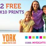 York Photo: Two Free 8X10 Prints