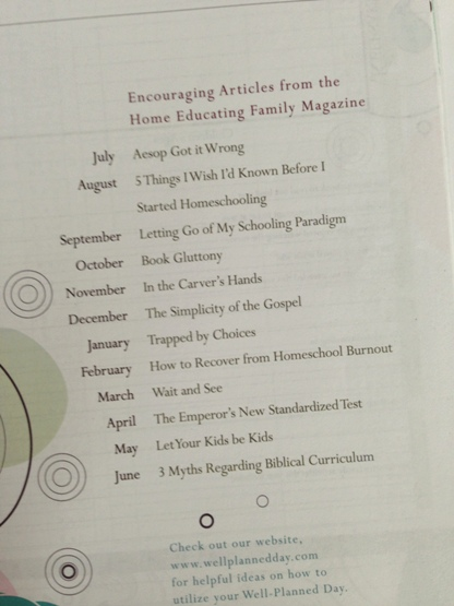 Articles in the Well Planned Day Planner