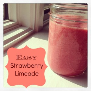 Easy Strawberry Limeade