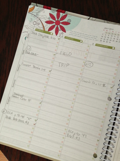 Inside the Well Planned Day Planner