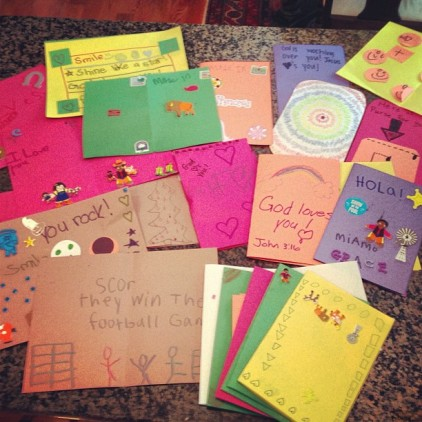 Making Cards for the Orphans