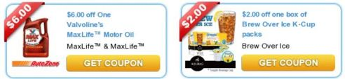 New printable coupons valvoline brew over coffee for Valvoline motor oil coupons