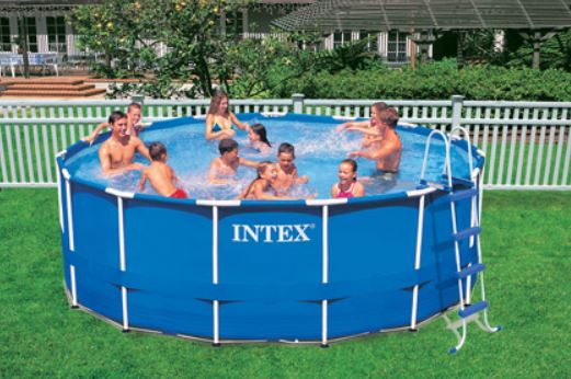 Intex 15 x 48 metal frame swimming pool - Walmart above ground swimming pools ...