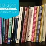 My Homeschool Curriculum List for 2013-2014