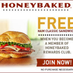 Honeybaked Ham Coupon: Free Ham Classic Sandwich (No Purchase Necessary!)