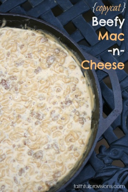 Beefy Mac n Cheese Copycat