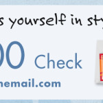 Giveaway: Checks in the Mail (Literally!)