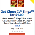 Kroger: Cheez-It Zingz Only $1 (Today Only!)