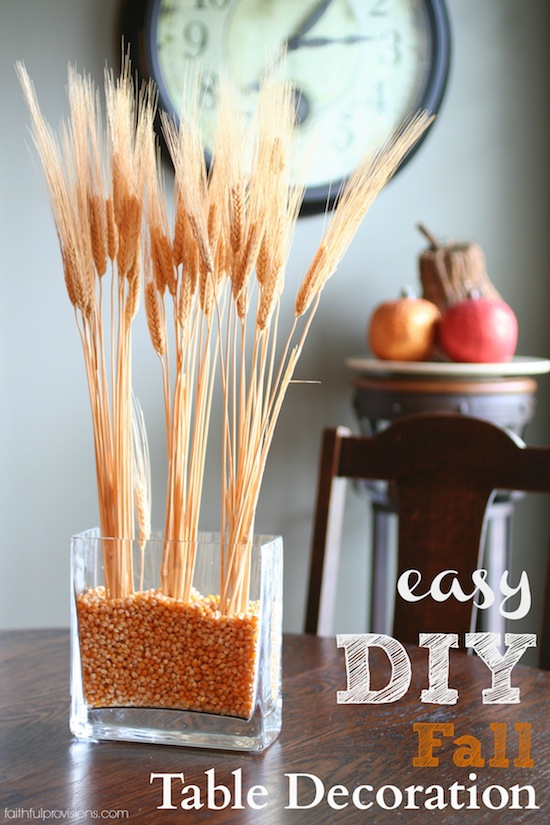 easy DIY fall table decoration