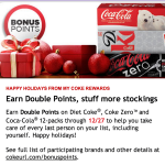My Coke Rewards: Earn Double Points – Through 12/27
