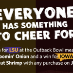 FREE Aussie-Tizer at Outback Steakhouse on January 2nd