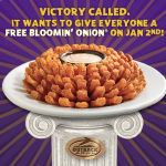 FREE Bloomin' Onion at Outback Steakhouse – Today Only (January 2nd)