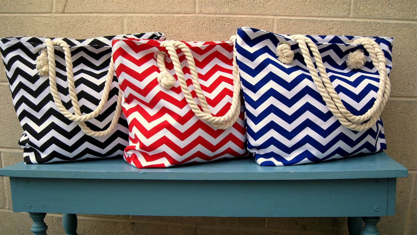 Chevron Beach Tote Only $14.99 (Limited Time!) - Faithful Provisions