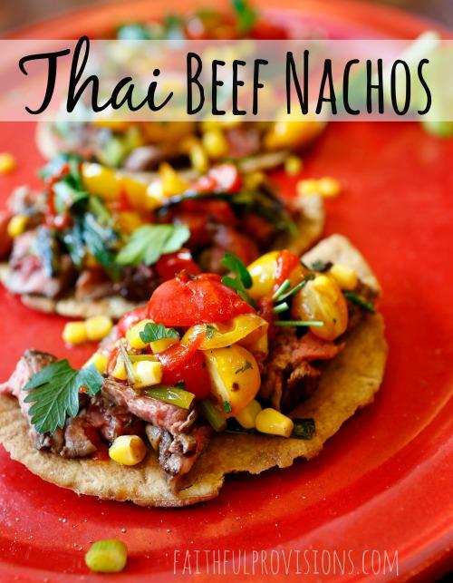 Thai Beef Nachos on FaithfulProvisions.com