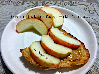 peanut+butter+toast+with+apple