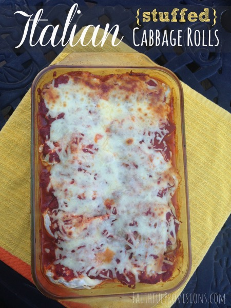Easy Italian Stuffed Cabbage Rolls from FaithfulProvisions.com