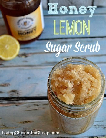 Homemade-Honey-Lemon-Sugar-Scrub