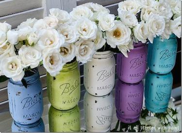 mason-jars-painted-distressed