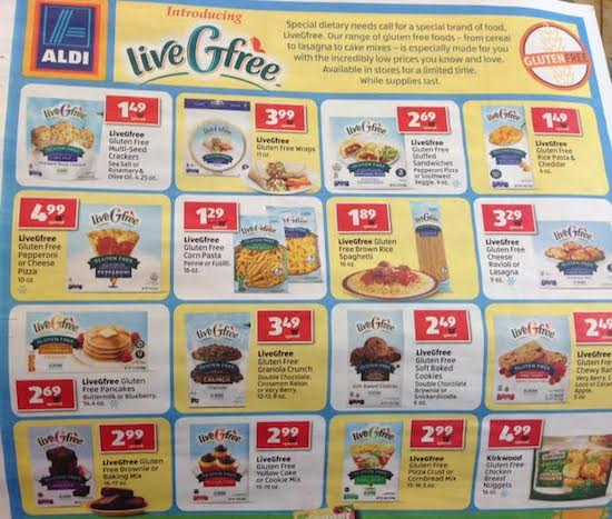 Aldi Live Gfree Gluten Free Products | Faithful Provisions