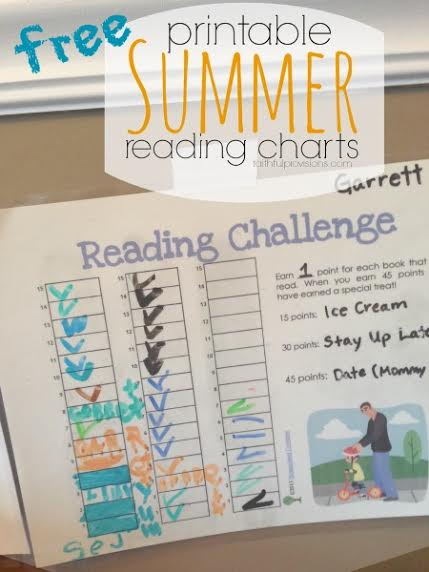 Free Summer Reading Charts | Faithful Provisions