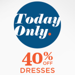 Old Navy: 40% Off Dress Sale + $10 of $50 Purchase Coupon (Today Only!)