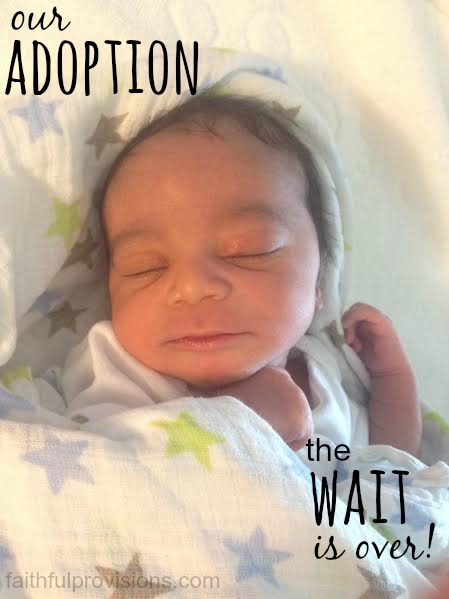 Our Adoption Journey: The Wait is Over | Faithful Provisions
